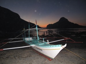 Sunset Boat Scene