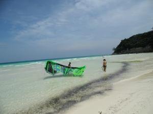 Kitesurfer lost in time